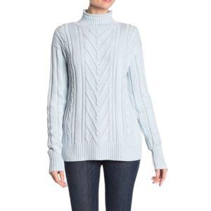 J.Crew 100% Cotton Mock Neck Sweater